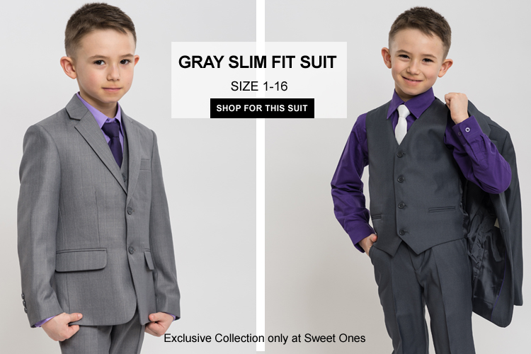 boys gray formal suits