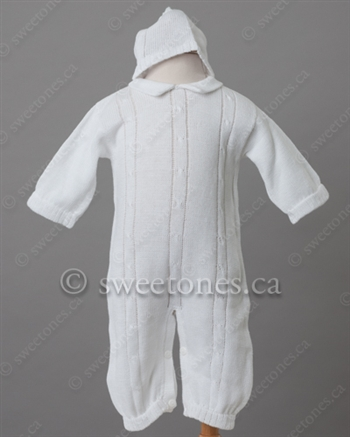 Boy Knitted Christening Outfit Boy Silk Christening Gowns