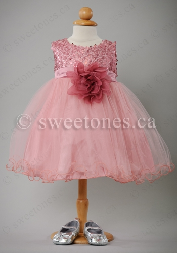 Baby Pink Taffeta Party Dress Baby Girl Dresses And