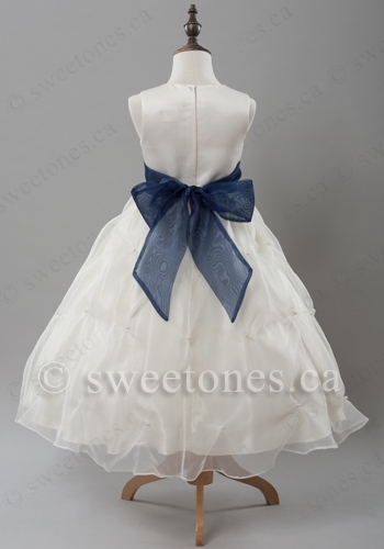300fb7fccb3 Ivory flower girl dress with sash